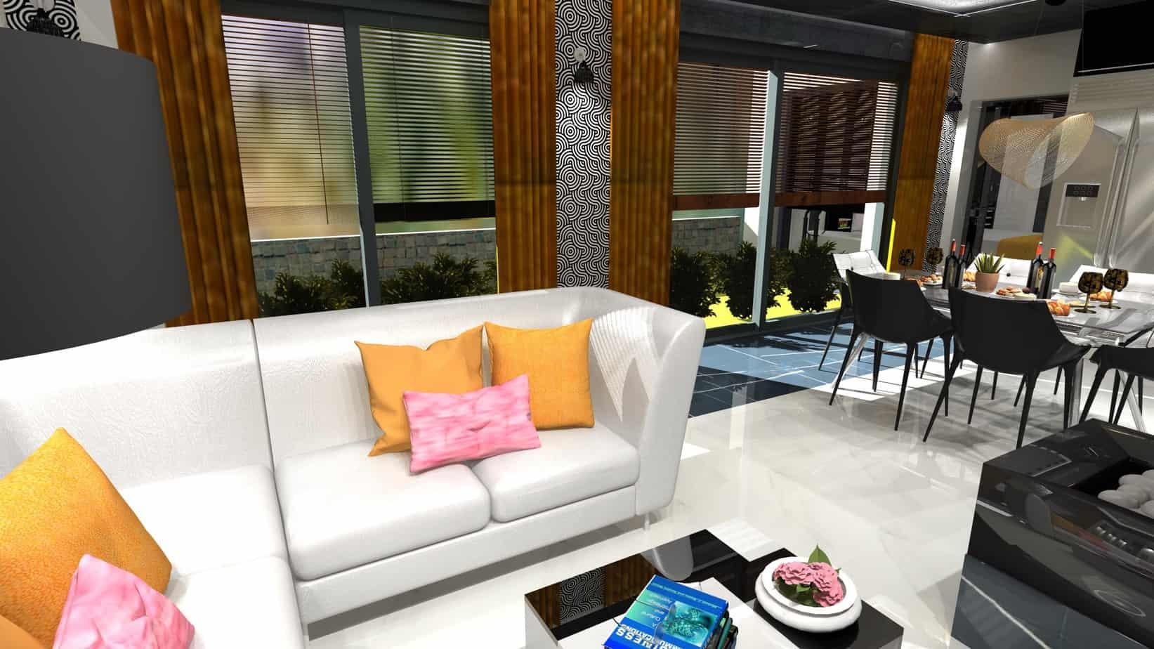 VelvetStudio KépGaléria Render nappali étkező képgaléria,lakberendezés